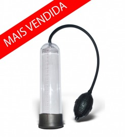 Bomba Peniana Pêra Manual Preta Mega Pump