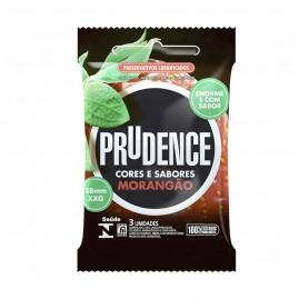 Preservativo Extra Morangão Prudence 03 Unidades