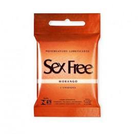 Preservativo Aromatizados Sex Free Morango